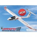 Art-Tech Diamond 1100 EP RTF Glider 4 Channel Radio